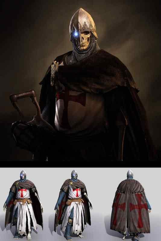 skull warriorjpg 50 Personagens 3d de cair o queixo