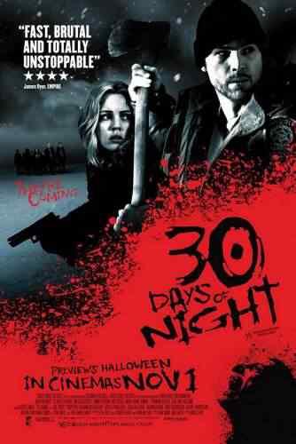 30 dias de noite poster06 Super lista de filmes baseados em quadrinhos