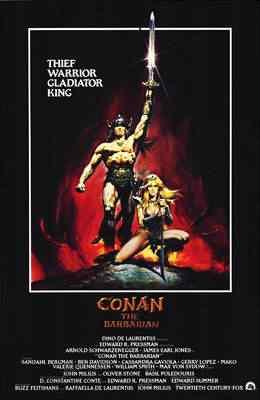 Conan The Barbarian poster Super lista de filmes baseados em quadrinhos