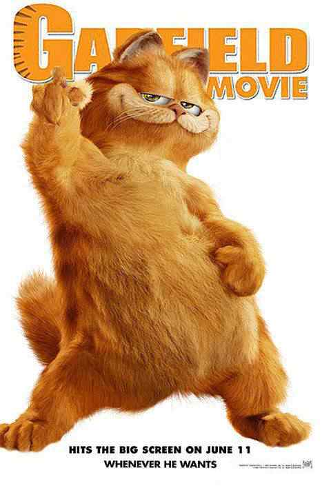 Garfield pro Super lista de filmes baseados em quadrinhos