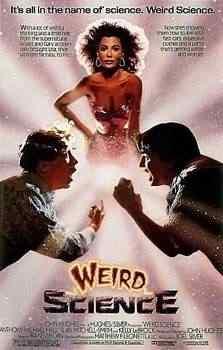 Movie poster for Weird Science 1985 Super lista de filmes baseados em quadrinhos