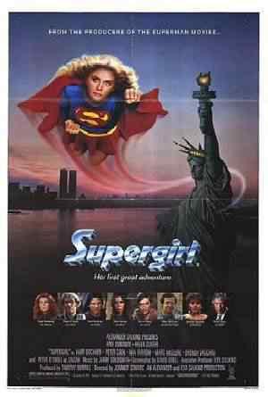 Supergirlposter Super lista de filmes baseados em quadrinhos