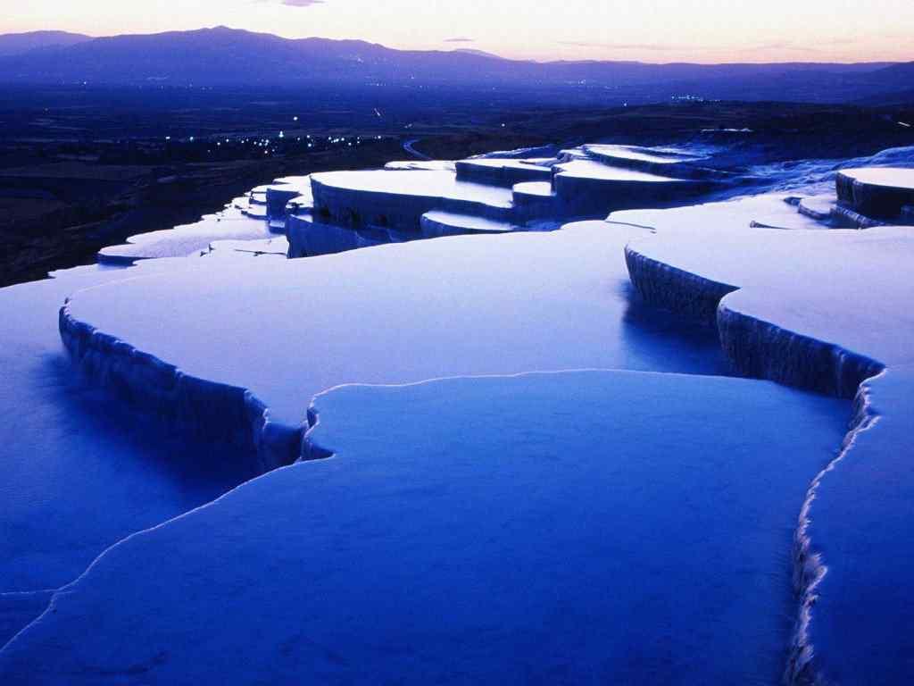 Thermal Springs Pamukkale Turkey 1024x768 10 lugares Gumps