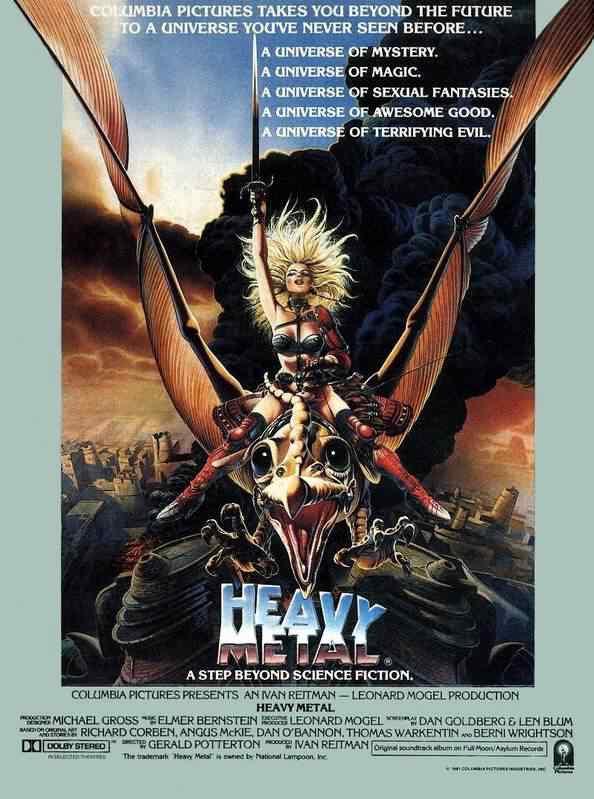 movie poster heavy metal Super lista de filmes baseados em quadrinhos