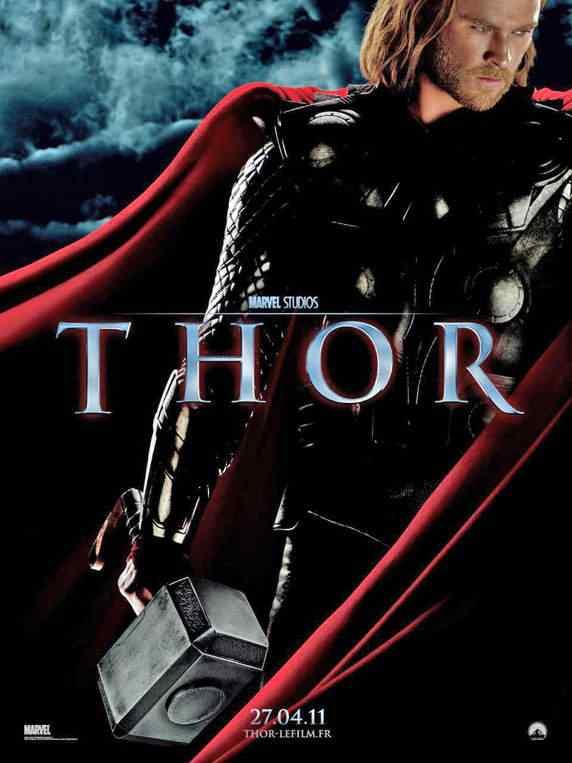 o thor 2011 new poster Super lista de filmes baseados em quadrinhos