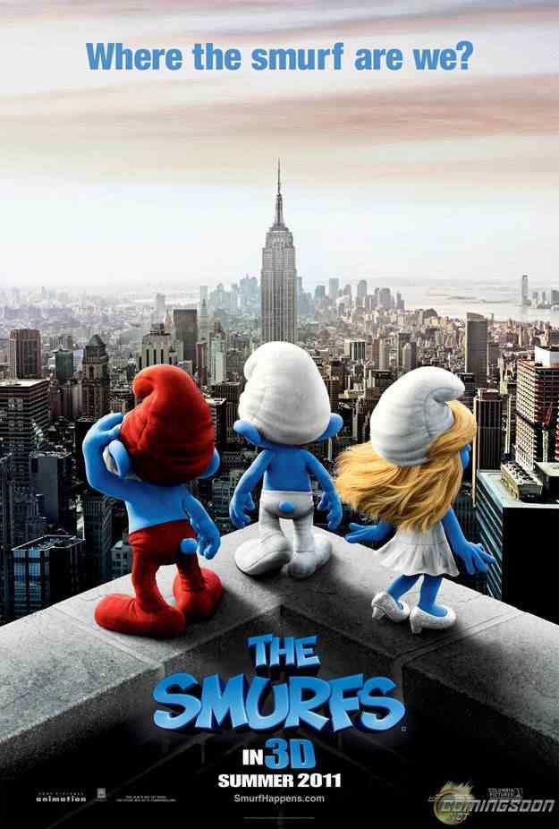poster filme os smurfs Super lista de filmes baseados em quadrinhos