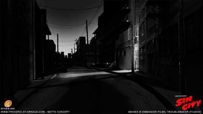 Sin City Alley Matte 01 170 Matte Paintings de babar