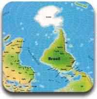 mapa mundi Artigos legais do Mundo Gump