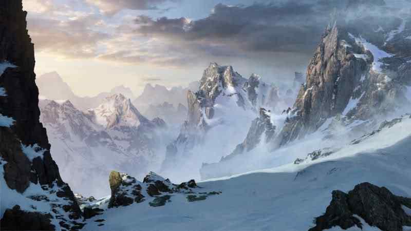 snowy mountains by artek92 d323u5a 170 Matte Paintings de babar
