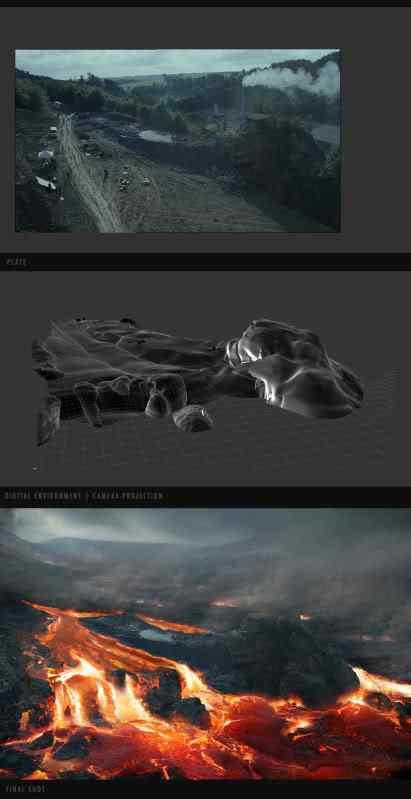 vulkan lave wasserfall 170 Matte Paintings de babar