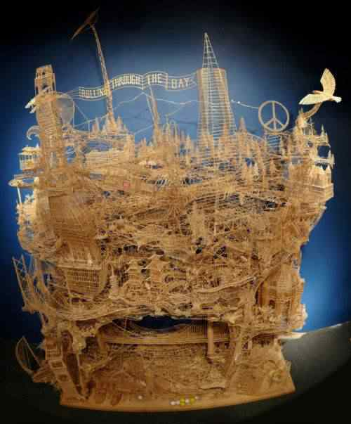 weaver 1 600x723 5 Esculturas inacreditáveis feitas de palitos