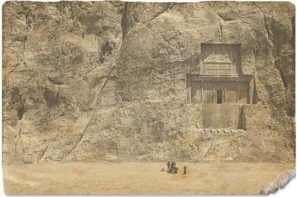 Naqsh i Rostam 4 Templo rochafinal21 A busca de Kuran   O templo da morte