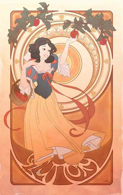 gluttony by chill07 d35fwlb 505x800 Princesas Disney Art Nouveau