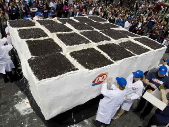 largest ice cream cake 550x412 O maior bolo de sorvete do mundo
