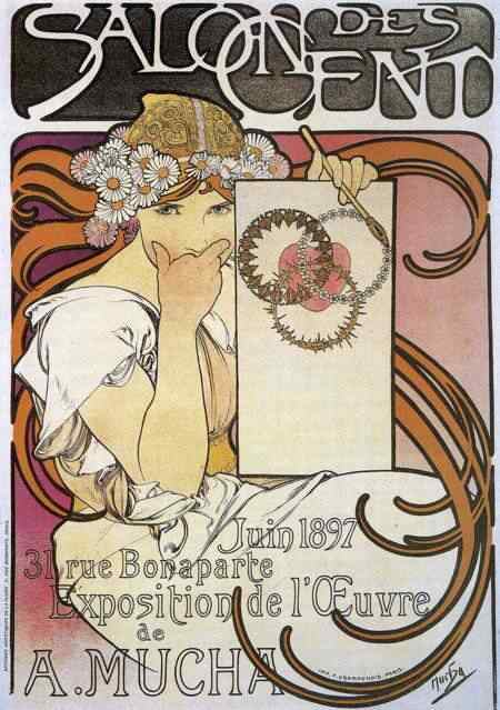 mucha100 Princesas Disney Art Nouveau