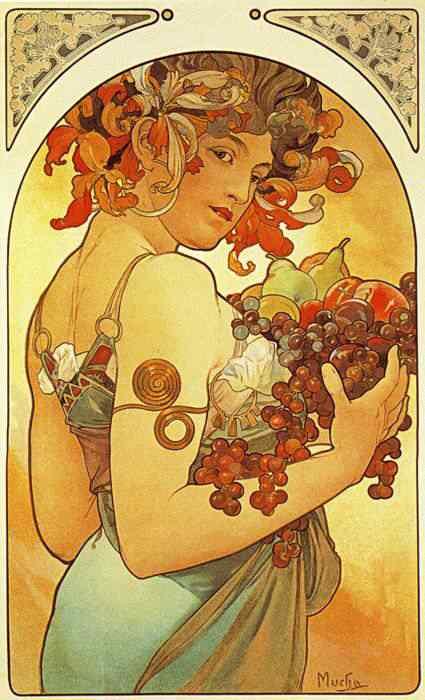 mucha17 Princesas Disney Art Nouveau