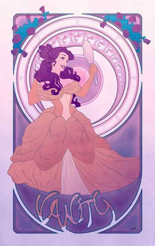 vanity by chill07 d36aiik 505x800 Princesas Disney Art Nouveau