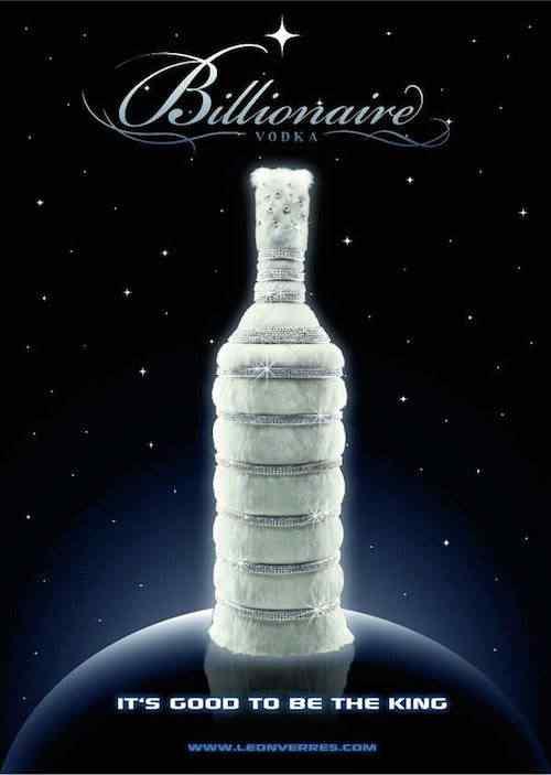 billionaire vodka 7118 A vodka mais cara do mundo 2