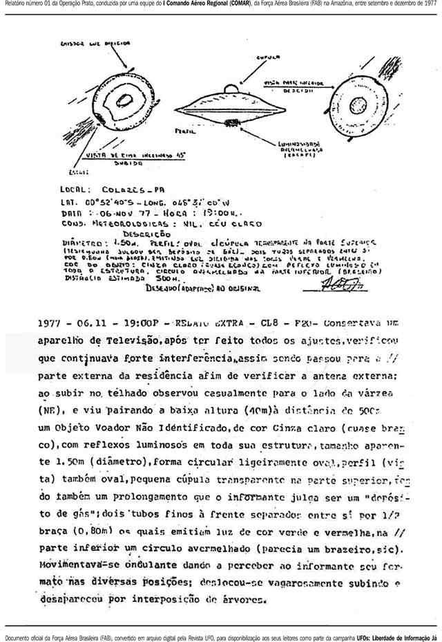 arquivos ovni brasil operacao prato 1977 19 Aliens registrados em video na Amazônia?