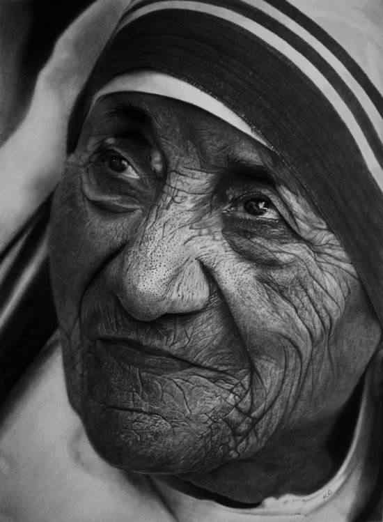Kelvin Okafour Mother Teresa 550x749 As fantásticas ilustrações de Kelvin Okafor