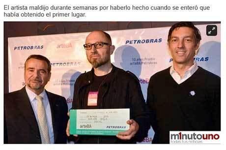 %name Argentino ganha prêmio Petrobrás de arte sem nem ter mandado a foto da sua obra