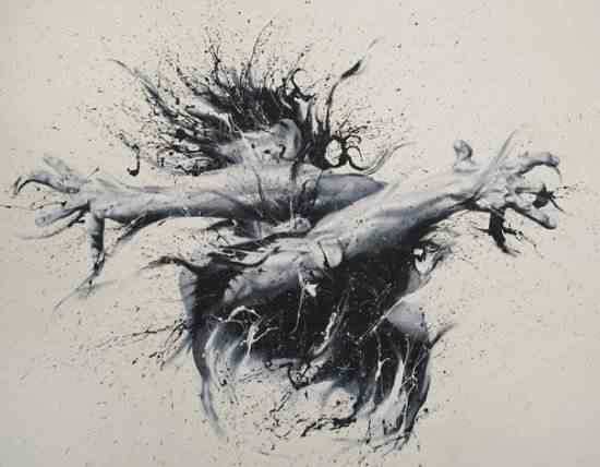 Paolo Trolio finger paintings4 550x428 Pintando com os dedos: Conheça a arte de Paolo Troilo