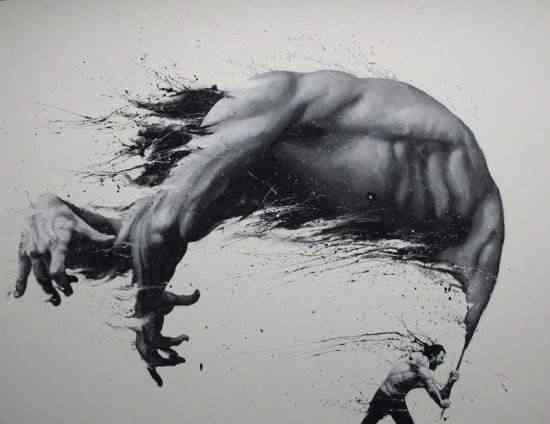 Paolo Trolio finger paintings5 550x424 Pintando com os dedos: Conheça a arte de Paolo Troilo