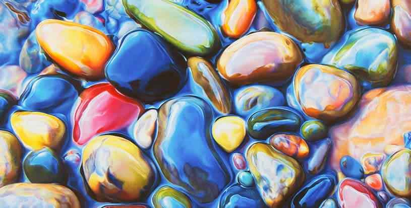 ester roi 02 Pedras coloridas