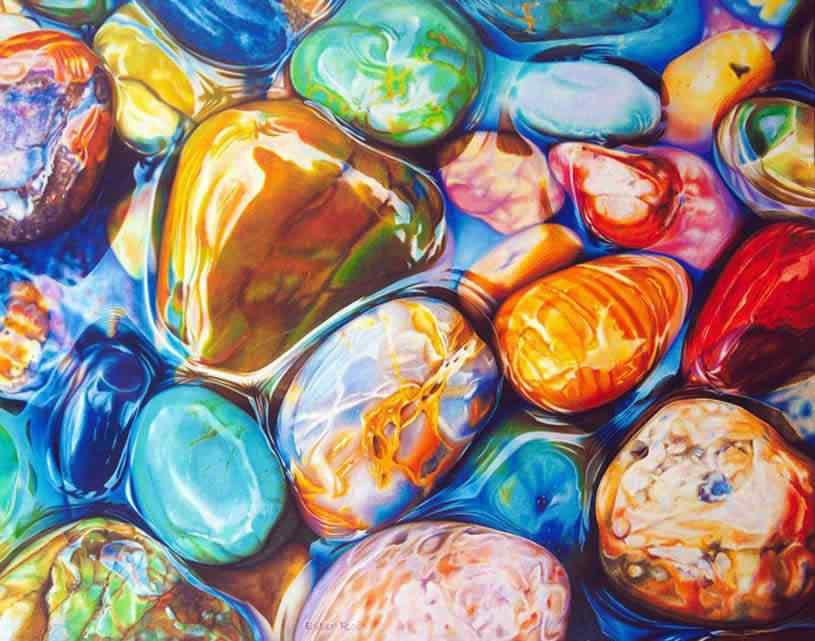 ester roi 03 Pedras coloridas