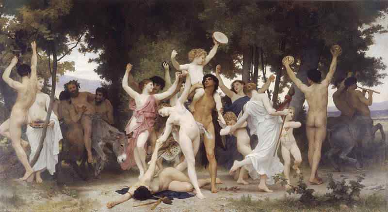 800px William Adolphe Bouguereau 1825 1905   The Youth of Bacchus 1884 O rei do camarote