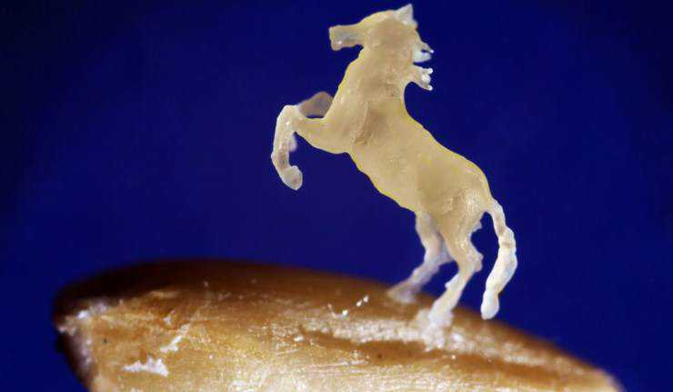51652 original Russo esculpiu cavalo num grão de aveia