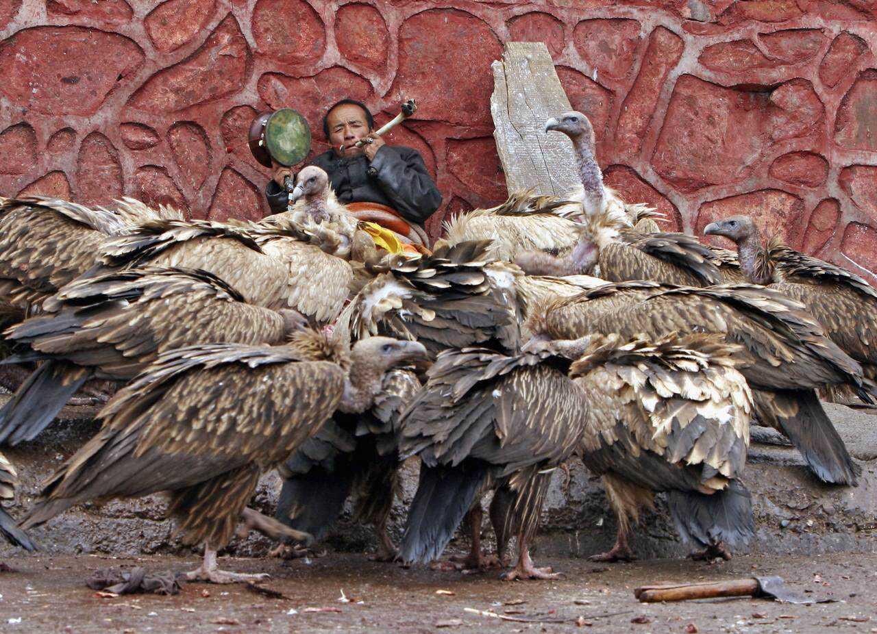 Tibetan's Perform Celestial Burial Ceremony