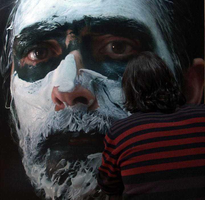 hyperrealistic self portraits paint on face by eloy morales 1 Isso não é a foto de um sujeito com tinta na cara