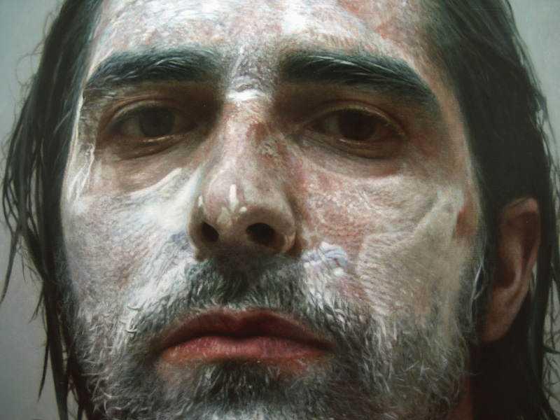 hyperrealistic self portraits paint on face by eloy morales 3 Isso não é a foto de um sujeito com tinta na cara