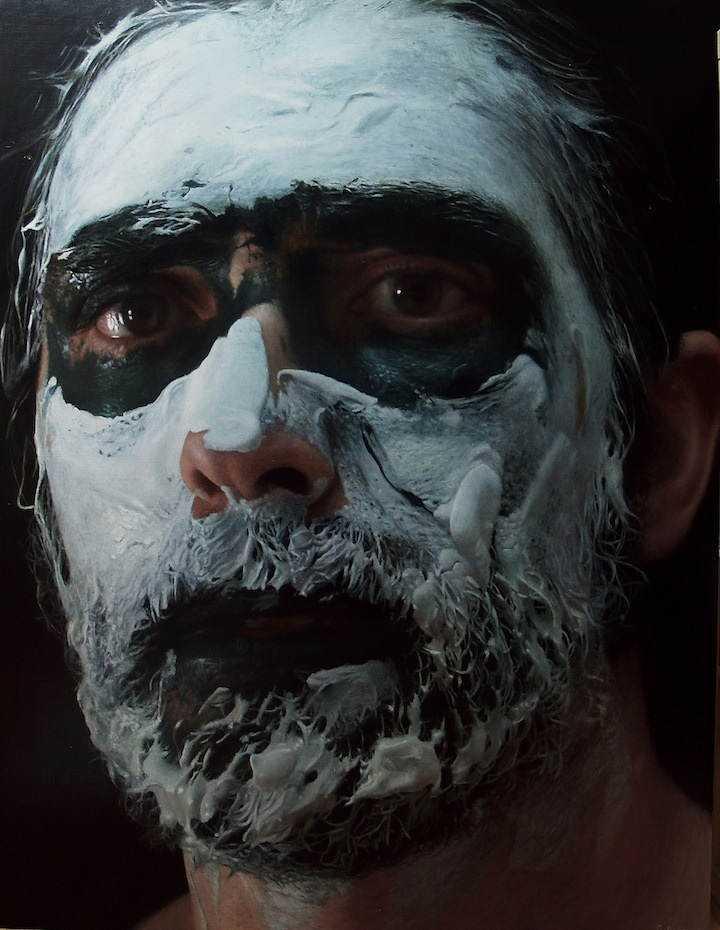 hyperrealistic self portraits paint on face by eloy morales 6 Isso não é a foto de um sujeito com tinta na cara