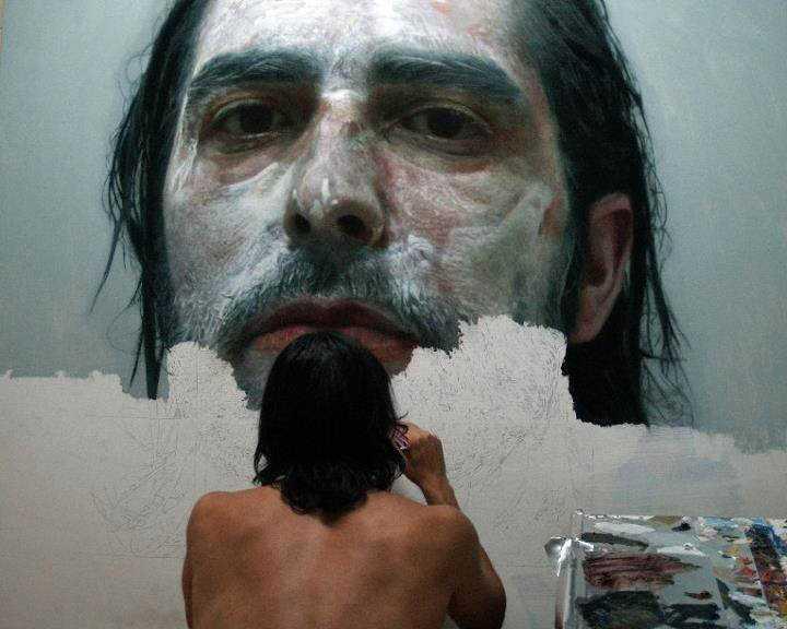 hyperrealistic self portraits paint on face by eloy morales 7 Isso não é a foto de um sujeito com tinta na cara