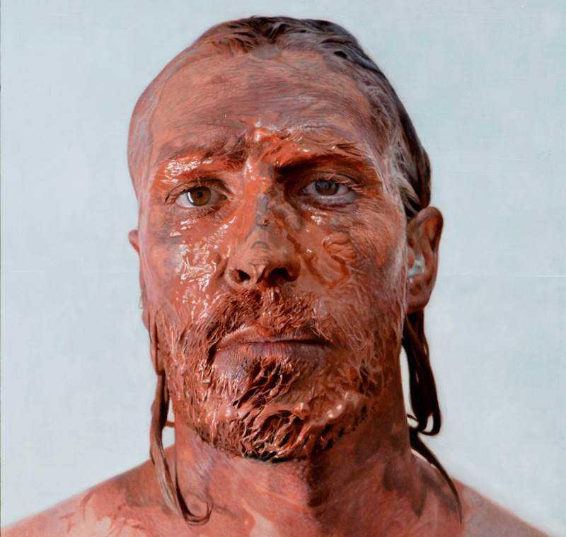 hyperrealistic self portraits paint on face by eloy morales 8 Isso não é a foto de um sujeito com tinta na cara