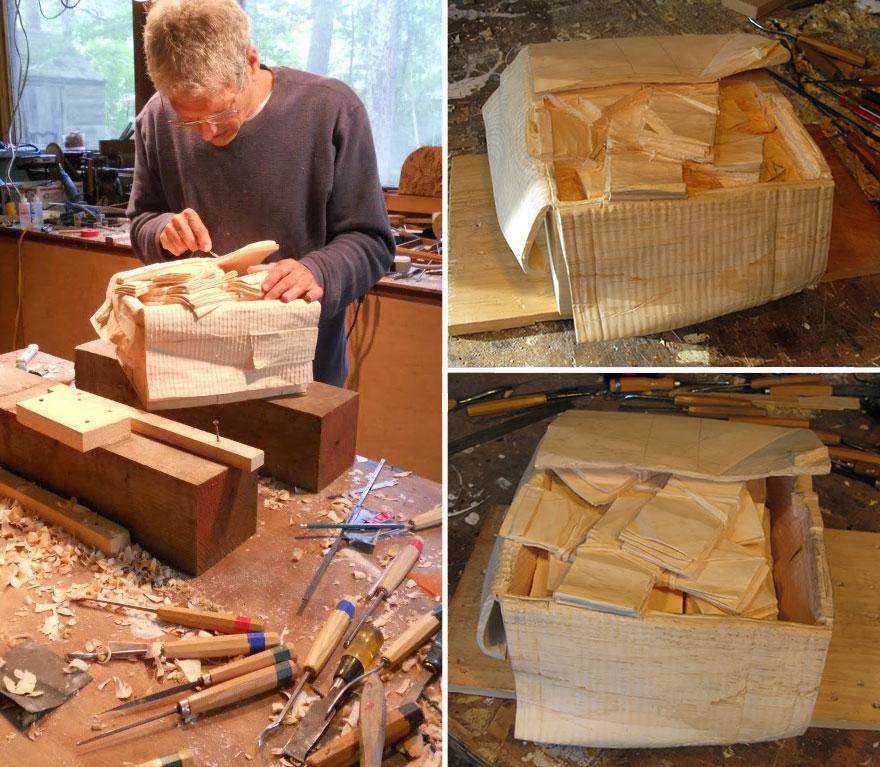 realistic wood sculptures box of cash randall rosenthal 5 b O homem que descobriu como fazer dinheiro (literalmente)