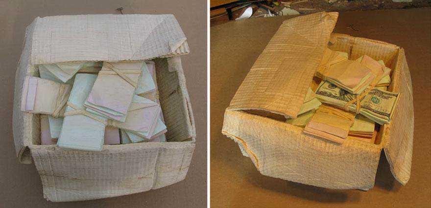 realistic wood sculptures box of cash randall rosenthal 7 O homem que descobriu como fazer dinheiro (literalmente)
