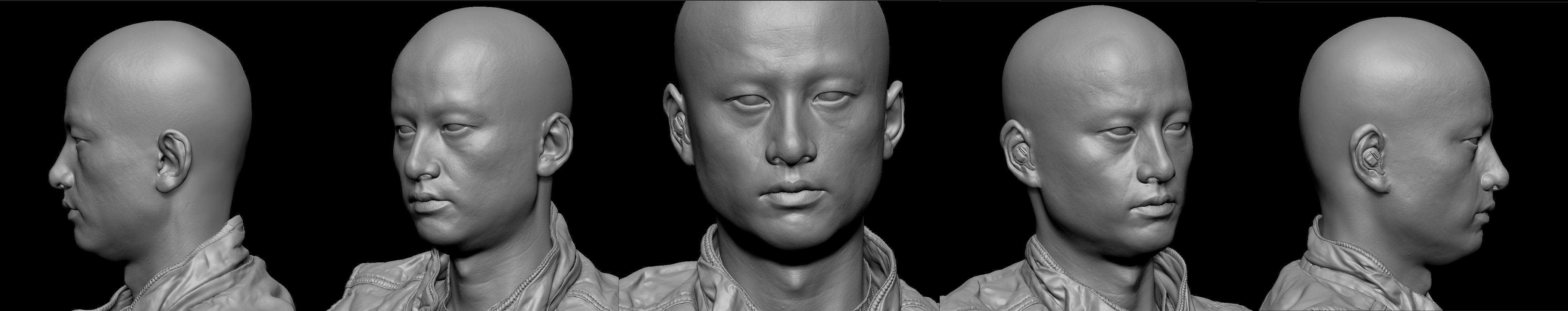 Meditation Model Head Quem é este homem oriental te olhando?