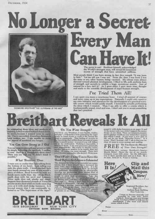 breitbart ad 1924 Zishe Breitbart e os antepassados do Super Homem