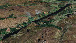 lochhighalt Monstro de Loch Ness fotografado novamente. Desta vez, do céu. Será?