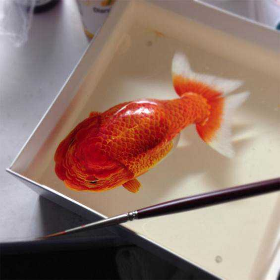 Incredible Photorealistic 3D painting by Keng Lee 12 O polvo fake de Keng Lee e outras pinturas