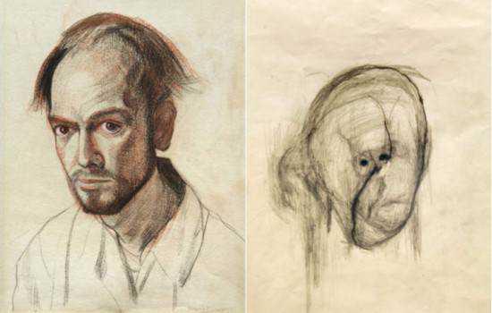 William Utermohlen alzheimer 550x350 Artista com o Mal de Alzheimer faz seu autorretrato até esquecer como desenha