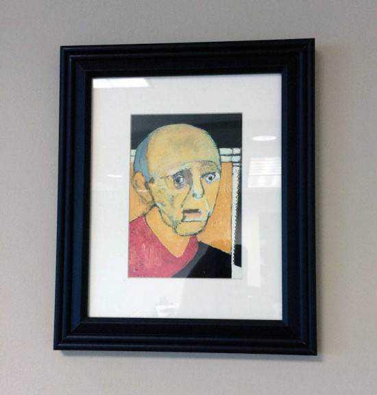 William Utermohlen alzheimer5 550x576 Artista com o Mal de Alzheimer faz seu autorretrato até esquecer como desenha