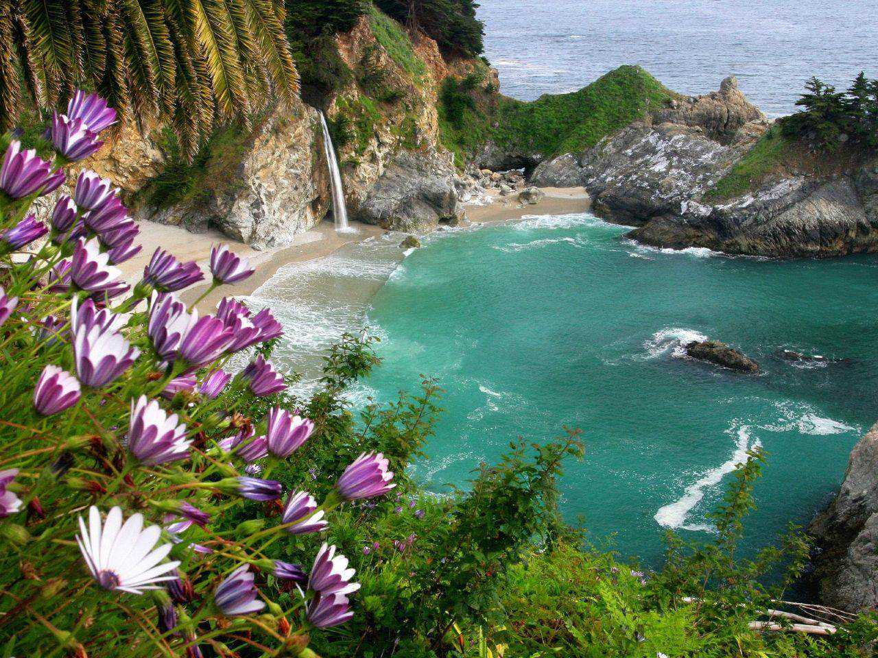 Widescreen_Wallpaper_Big_Sur_McWay_Falls_1280x960