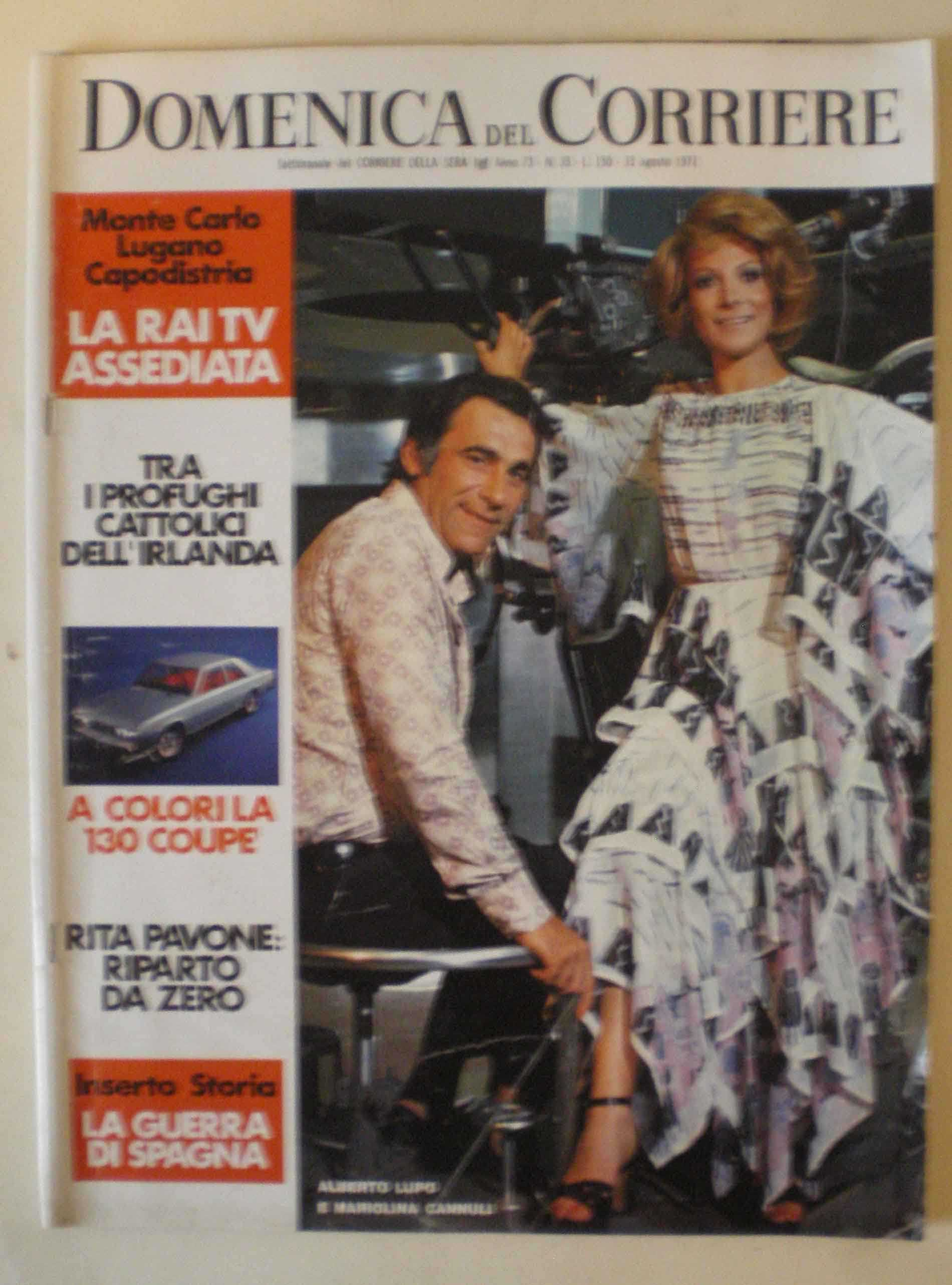 13 agosto 1971 Domenica del Corriere e suas capas espetaculares