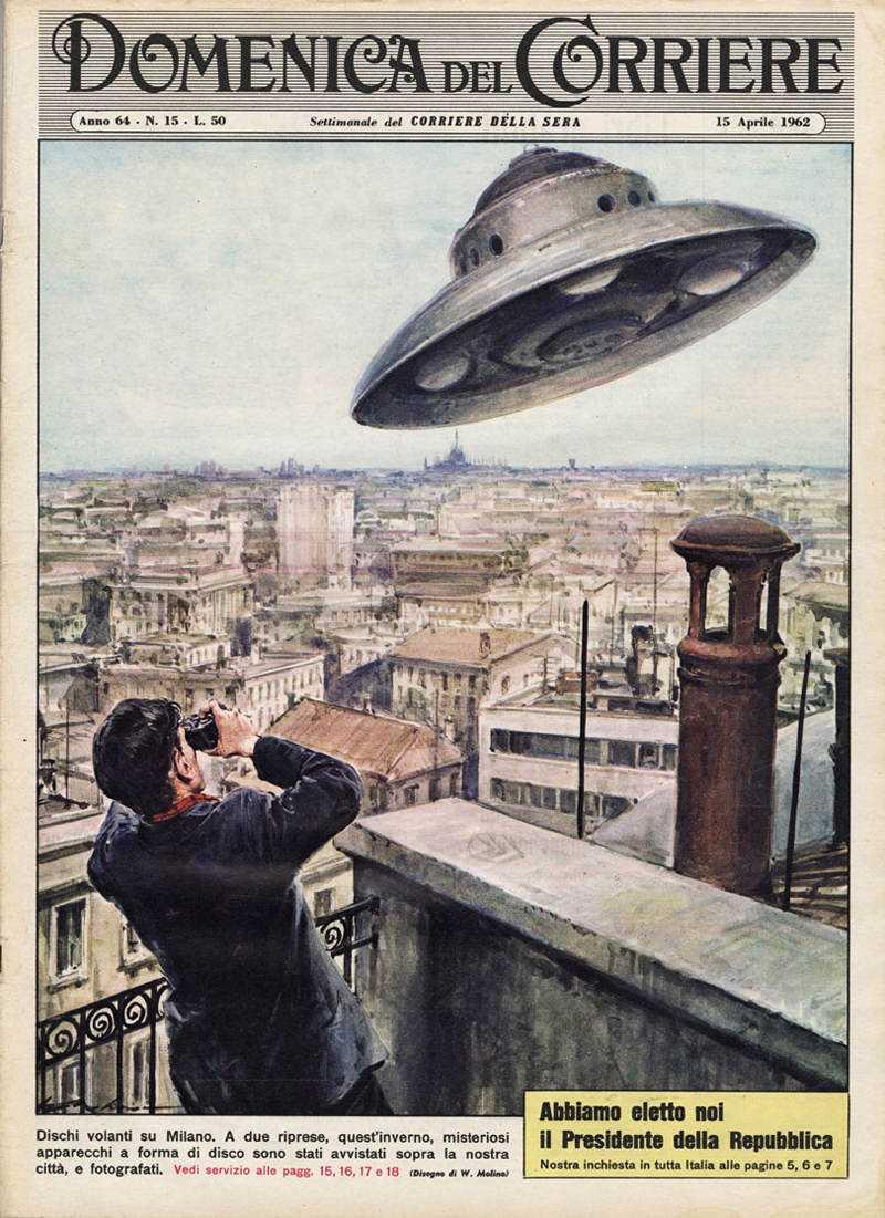 15 04 1962 Domenica del Corriere e suas capas espetaculares