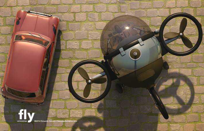 Citycopter2 Mais um carro voador bizarro