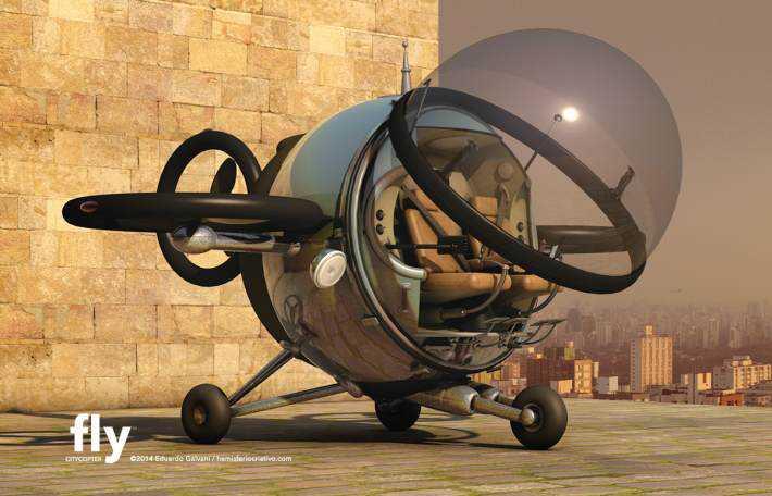 Citycopter3 Mais um carro voador bizarro